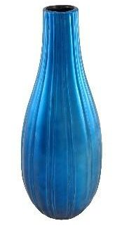 Ceramic Furnishings Ceramic Vase (Metallic Sky Blue) LARGE