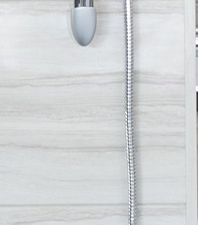 Shower Head and Sliding bar set - Long narrow shower head