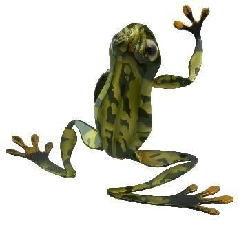 Metal Leaning Frogs Living D�cor