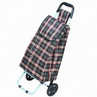 Tartan 2 Wheel Shopping Cart