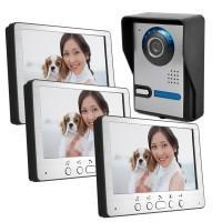 "7"" colour video doorphone with one outdoor unit & two indoor units"