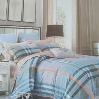 King Doona Set - 100% cotton - Pastel Stripes