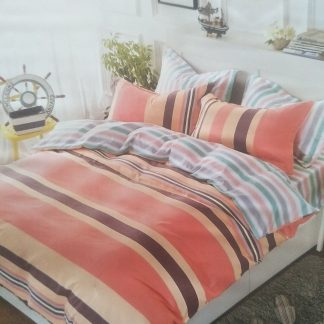 King Doona Set - 100% cotton - Summer Stripes