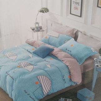 Queens Doona Sets 100% Cotton - Summer Blue