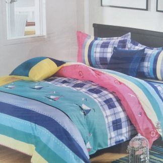 Single Doona Set - 100% Cotton - Sail Away
