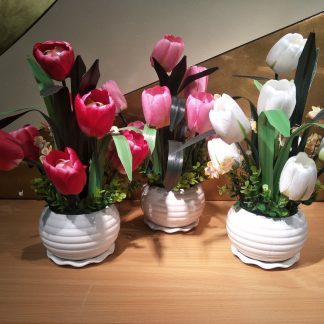 Artificial Tulip Arrangement Various Colours