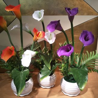 Artificial Calla Lily Arrangement Version 1 Various Colours
