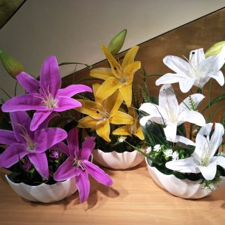 Artificial Medium Tiger Lily Arrangement Various Colours