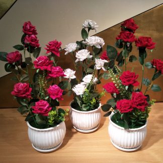 Artificial Medium Rose Arrangement Various Colours