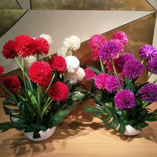 Artificial Pom Pom Dahlia Arrangement various Colours