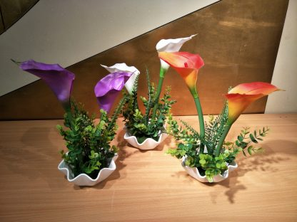 Artificial Small Calla Lilly Arrangement Various Colours