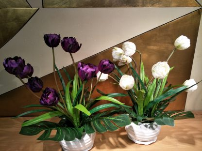 Artifical Uncle Tom Tulip Arrangement Various Colour