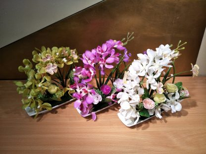 Artificial Mixed Moth Orchid and Flower Arrangement Various Colours