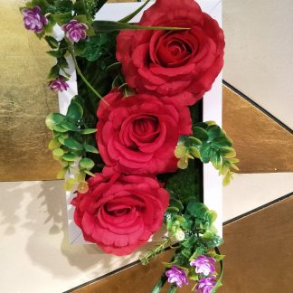 Artificial Rose Plaque Various Colours