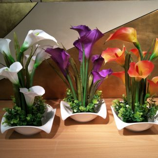 Artificial Calla Lily Arrangement Version 2 Various Colours
