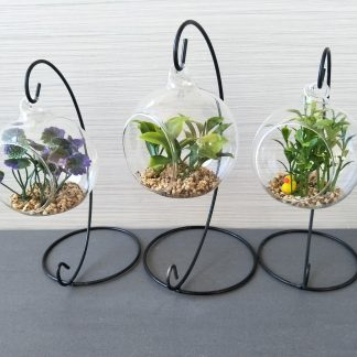 Artificial Glass Terrarium on Stand