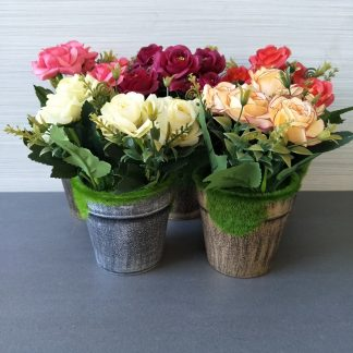 Artificial Country Style Rose Pots