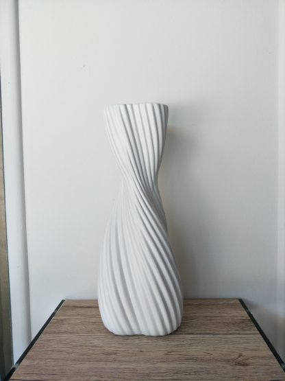 Art Deco Large Ceramic Vase - White