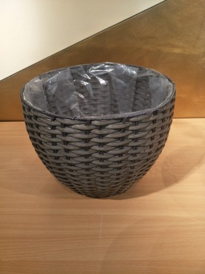 Round Plastic Baskets Round set 4 - Charcoal