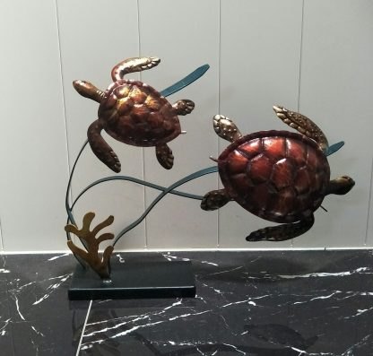 Two Turtle On a Stand