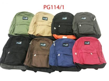 2 Pocket Canvas Backpack - various colours