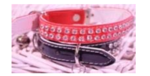 (20mm x 40mm) Double Row Diamond PU Collar