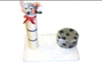 Single Pole Cat Scratching Post with Mouse And Seat