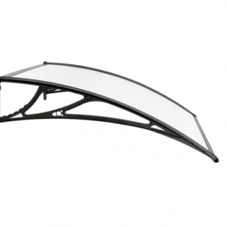 RUIYU Window Awning / Canopy SIZE:150X100CM,3.0MM Black