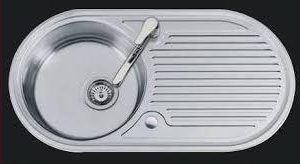 Stainless Steel Sink Round with Side